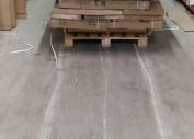 Отремонтированный бетонный пол